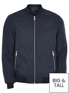 river-island-big-and-tall-bomber-jacket-navy