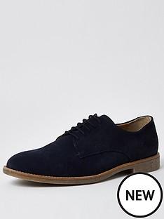 river-island-suede-casual-shoe-navy