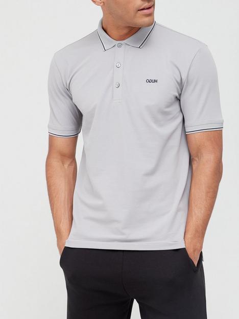 hugo-dinoso-tipped-collar-polo-shirt-medium-grey