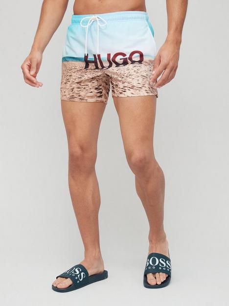 hugo-beach-photo-print-logo-swim-shorts-multi