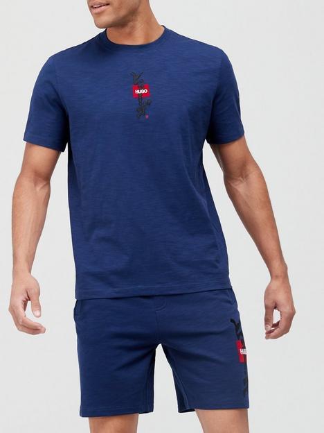 hugo-dasabi-calligraphy-logo-t-shirt-indigonbsp