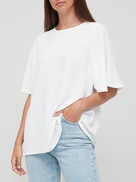 v-by-very-angel-sleeve-floaty-blouse-white
