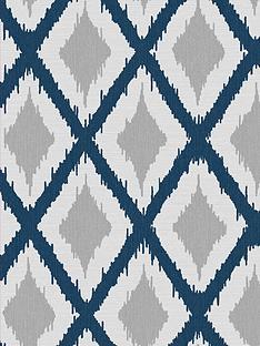 fresco-ikat-blue-wallpaper