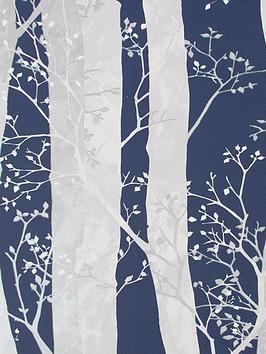 sublime-dappled-trees-navy-wallpaper
