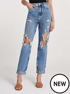 river-island-carrie-gwen-high-rise-mom-jeansnbsp--mid-authentic