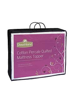 downland-quilted-cotton-percale-mattress-topper