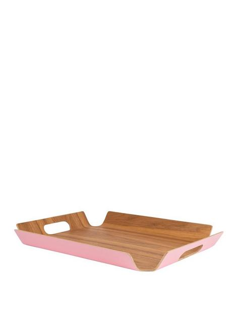 navigate-candy-pink-willow-wood-serving-tray