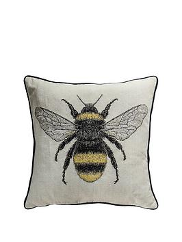 gallery-tapestry-bee-cushion-natural