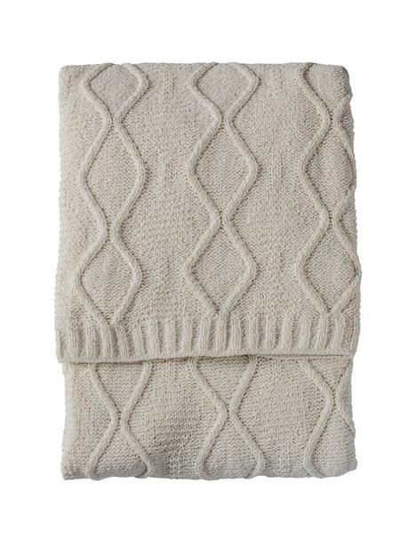 gallery-chenille-knit-cable-throw-cream