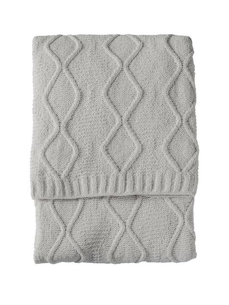 gallery-chenille-knit-cable-throw-melange-grey