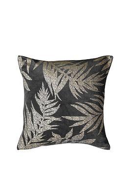 gallery-velvet-metallic-leaves-cushion-grey