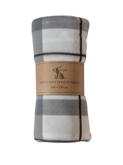 gallery-checked-fleece-blanket-burgundy