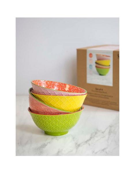 kitchencraft-kitchen-craft-glazed-ceramic-set-of-4-bowls