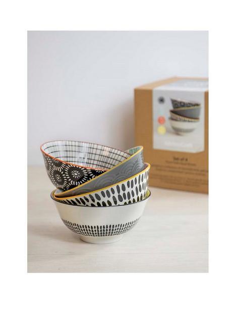 kitchencraft-kitchen-craft-monochrome-set-of-4-bowls