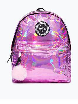 hype-girls-pink-holographic-backpack-pink