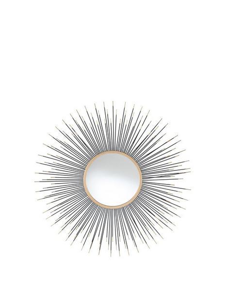 pacific-lifestyle-black-gold-metal-starburst-round-wall-mirror