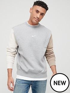 nike-nswnbspfleecenbspcrew-swoosh-colour-block-sweat-top-grey