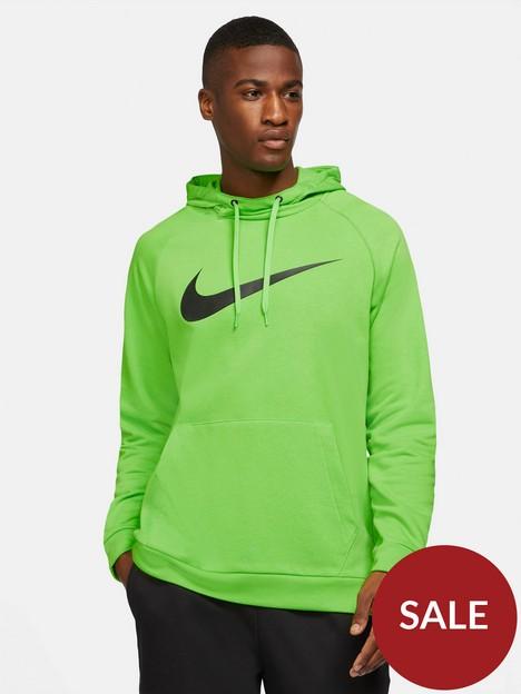 nike-dri-fit-pullover-swoosh-hoodie-green