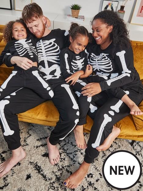 very-man-mens-skeleton-halloween-mini-me-pyjamas