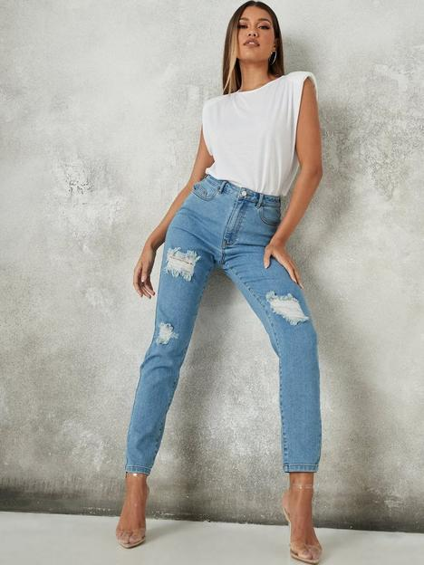 missguided-missguided-ripped-comfort-stretch-mom-jean-blue