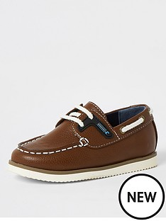 river-island-boys-lace-up-boat-shoes-light-brown