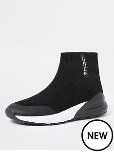 river-island-boys-bubble-sock-hi-top-trainers-black