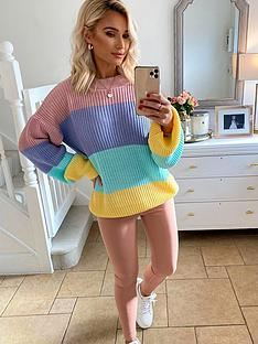 in-the-style-in-the-style-xnbspbillie-faiers-pastel-stripe-jumper-multi