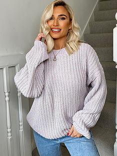 in-the-style-in-the-style-xnbspbillie-faiers-ombre-knit-jumper-lilac