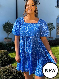 in-the-style-in-the-style-xnbspjac-jossa-smudge-print-tiered-mini-dress-blue
