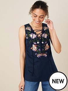 monsoon-linen-embroidered-sleeveless-top-navy