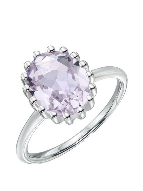 the-love-silver-collection-sterling-silver-pink-amethyst-ring