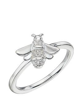 the-love-silver-collection-sterling-silver-bee-set-with-cubic-zirconia-ring