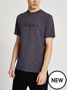 river-island-short-sleeve-slim-prolific-t-shirt-dark-grey