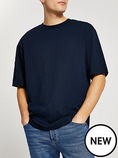 river-island-oversized-t-shirt-navy