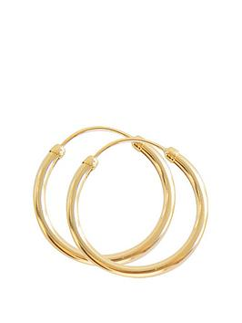 love-gold-love-gold-9ct-yellow-gold-18mm-slim-tube-hoops