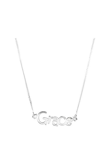 the-love-silver-collection-childrens-sterling-silver-star-personalised-adjustable-name-necklace