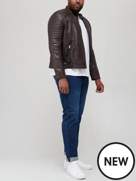 very-man-leather-biker-jacket-brownnbsp