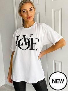 ax-paris-love-oversized-t-shirt-white