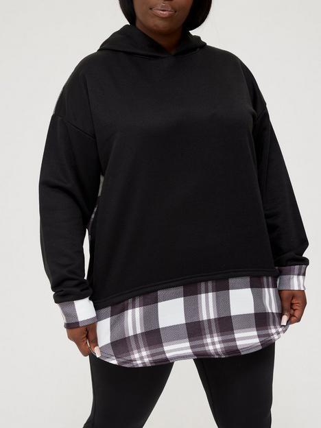ax-paris-curve-checked-hoodie-blacknbsp