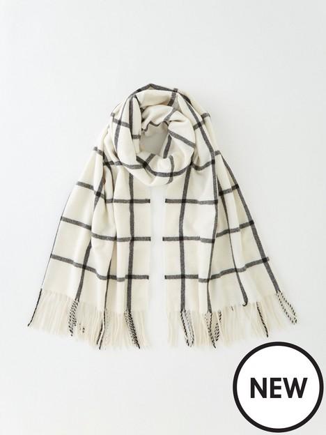 v-by-very-check-scarf-ecru