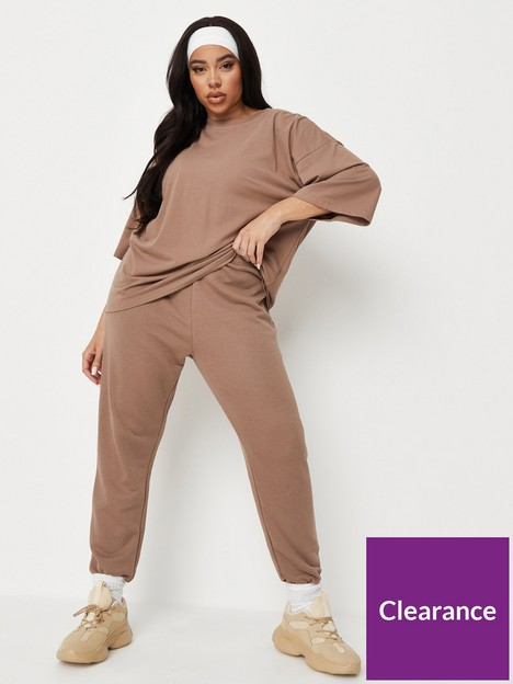 missguided-plus-missguided-plus-t-shirt-and-jogger-brown