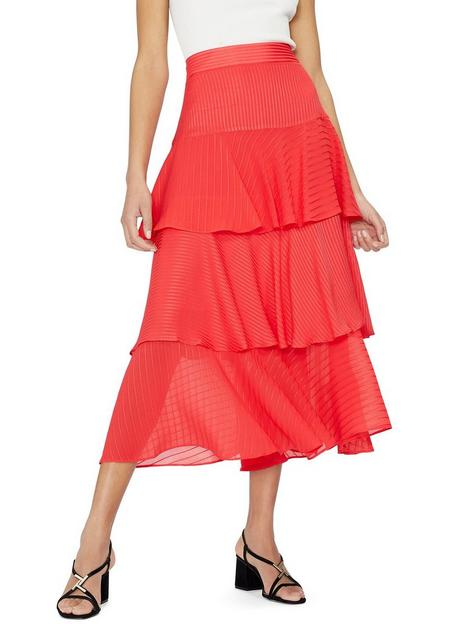 ted-baker-tiered-midinbspskirt-coral