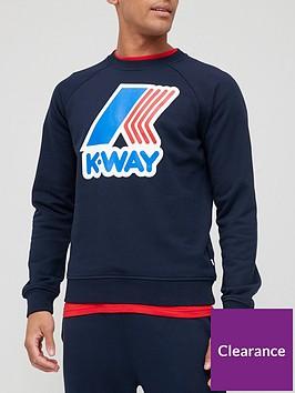k-way-emanuel-macro-logo-sweatshirt-navy