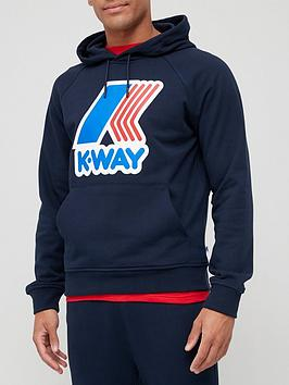 k-way-alban-macro-logo-overhead-hoodie-navy