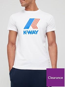 k-way-pete-macro-logo-t-shirt-white