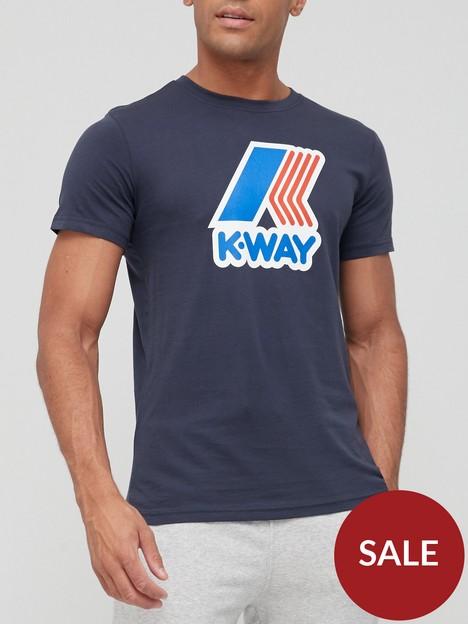 k-way-pete-macro-logo-t-shirt-navy