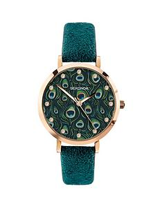 sekonda-sekonda-peacock-dial-blue-strap-ladies-watch