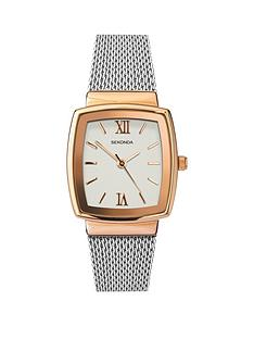 sekonda-sekonda-square-dial-rose-tone-stainless-steel-mesh-ladies-watch