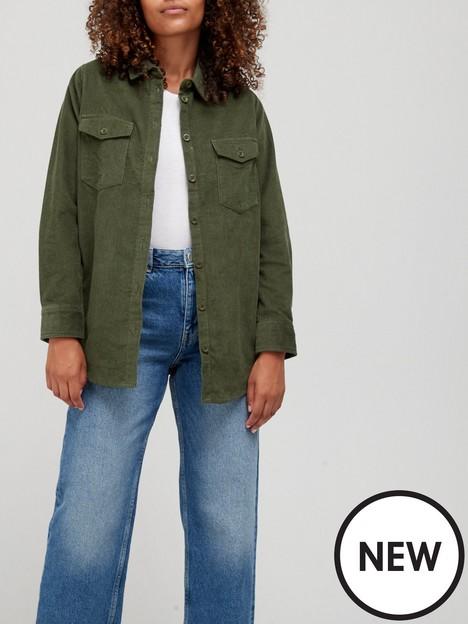 v-by-very-baby-cord-overshirt-khaki
