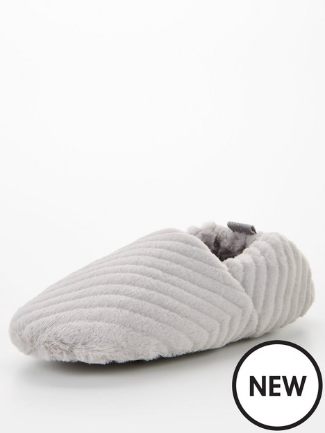 v-by-very-recycled-faux-fur-slipper-grey